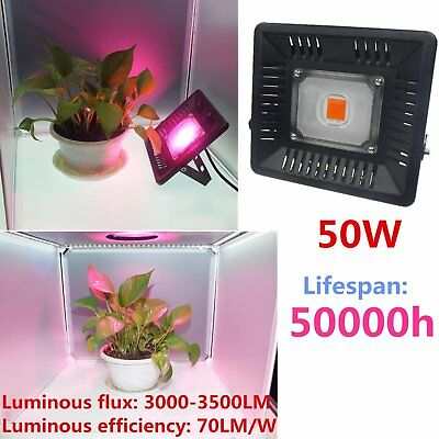 50W LED Grow Light Full Spectrum For Plant growing flowering Indoor COB Lamp F5