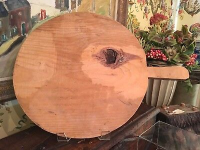Vintage European Wooden Bread Cheese Pizza Board Lovely Wood & Handle