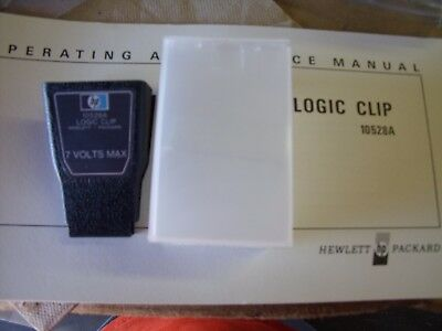 HP 10528A Logic Clip with Operating and Service Manual!  B7
