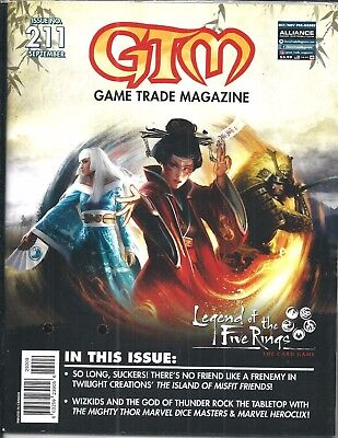 Game Trade Magazine #211 (Legend of the Five Rings, Sealed SEPT 2017) NM NEW