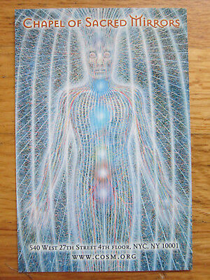 Chapel of Sacred Mirrors Alex Grey early 2000's flyer card art  COSM