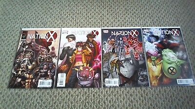 Nation X  #1-4, 1 2 3 4 Complete Series Set Lot Run Marvel 2010  /1203/