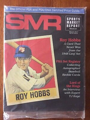 SMR Sports Market Report March 2017 - Roy Hobbs Cover - PSA Price Guide SEALED