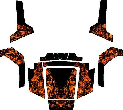 Polaris RZR RANGER 570 800 900 xp DECALS WRAP DOORS UTV camo camouflage weeds 2