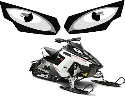 POLARIS RUSH PRO RMK 600 700 800 INDY ASSAULT 155 163 HEADLIGHT  DECAL STICKER b