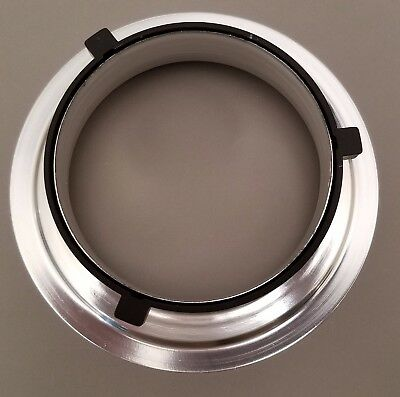 Black 144mm Diameter Speedring Mounting Flange Ring Adapter Flash for Bowens