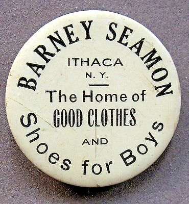 """1920's BARNEY SEAMON SHOES FOR BOYS Ithaca NY advertising 1.5"""" Pinback Button *"""