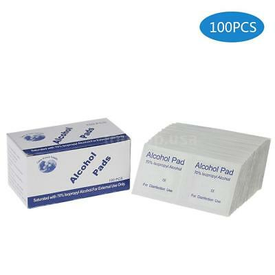 100pcs alcohol pads preps wipes antiseptic cleanser cleaning sterilization E7N3