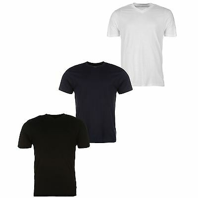 Donnay 3 Pack V-Neck T-Shirt Mens White/Black/Navy Sportswear Top Tee Shirt