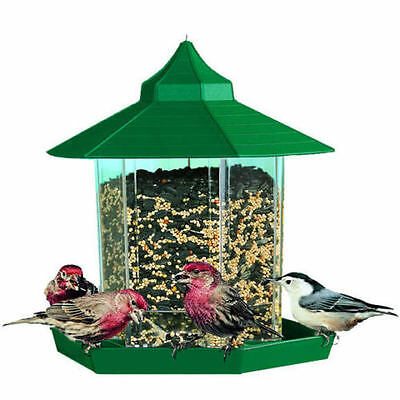 Perky Pet Gazebo Design Hanging Wild Bird Feeder + 250g Free Seed