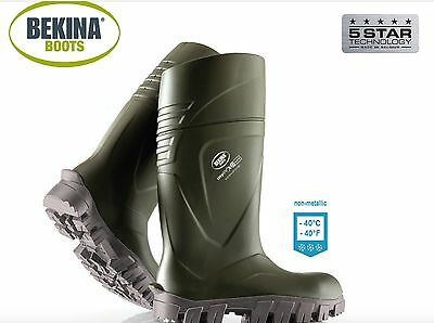 NEW Bekina Steplite®XCi S5 Safety (-40°C/F)THERMO Wellies Welly Wellington Boots