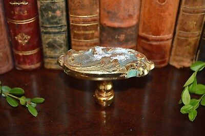 Antique French Ornate Brass Door Knob Handle