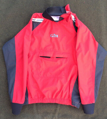 GILL Dinghy Top Waterproof Sailing Spray Jacket Red Juniors Kids Size L Large