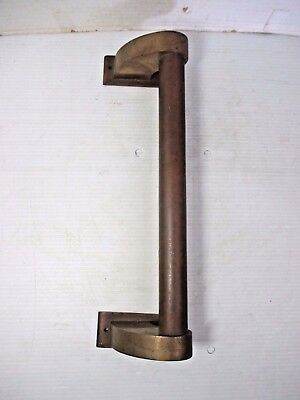 "Vintage Brass Architectural Salvage Front Door Handle Pull 13"" Long"