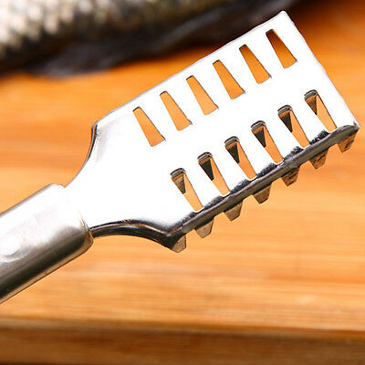 Stainless Steel Fish Scale Remover Cleaner Scaler Scraper Kitchen Peeler Toolhot