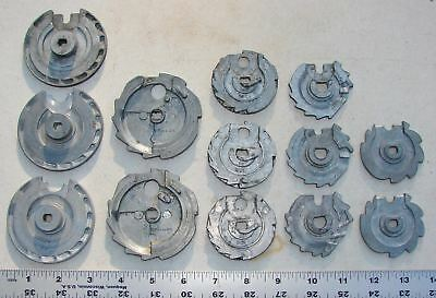 25 Cent Coin Mechanism Wheel Part Lot of 13 Pieces Used AS-IS Parts Repair
