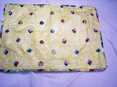 "Pillow Sham, Diamond Design with Plaid Binding, Fits 9"" x 13."" Form, Cotton, New"