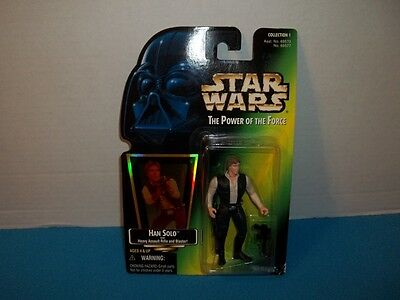 Collection 1 Star Wars Black Vested Han Solo The Power Of The Force NIB