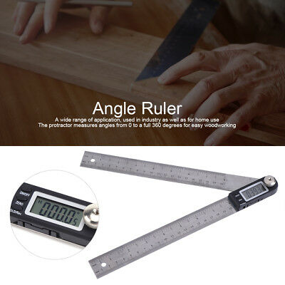 200mm Stainless Steel Digital Protractor Goniometer Gauge Angle Finder Ruler LJ