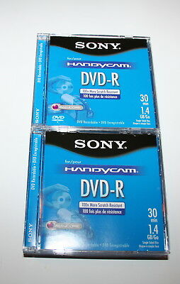 7 New Sony Handycam Dvd-R Recordable Media 30 Min 1.4 Gb Space Discs