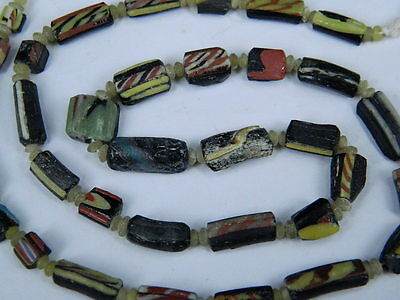 Ancient Mosaic Glass Fragment Beads Strand Roman 200 BC  #BE5169