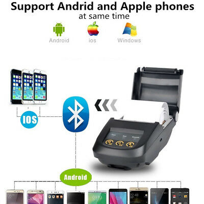 Bluetooth Wireless 58MM ESC/POS Thermal Receipt Printer for Android/ Windows AM