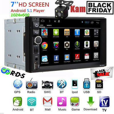 "7"" 2 DIN 3G Android5.1 Car FM/USB/SD Player GPS Autoradio Navigation BT+Cam IT"