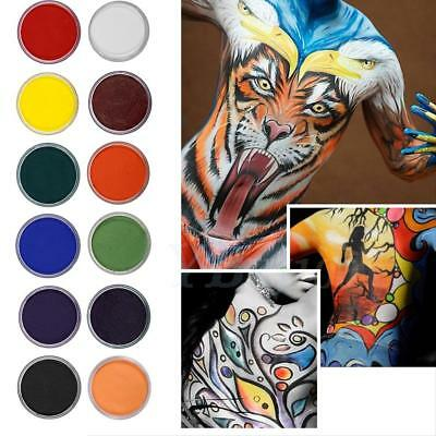 12 Colors Pro Water-based Matte Body Painting Pigment Stage Face Color Makeup SG