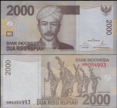 INDONESIA 🇮🇩 2,000 (2000) Rupiah Banknote, 2014, P-148, UNC World Currency