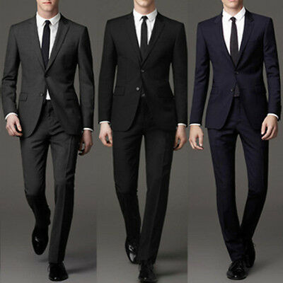 Tuxedo Men 3 Pieces Formal Suits Tailored Business Suits Regular Wedding Suits