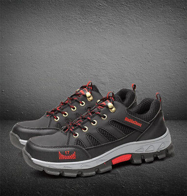 Men's Safety Shoes Steel Toe Work Sneaker Breathable Hiking Climbing Shoes
