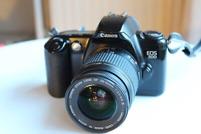 Canon EOS 500 film camera with 28-80 mm Ultrasonic lens