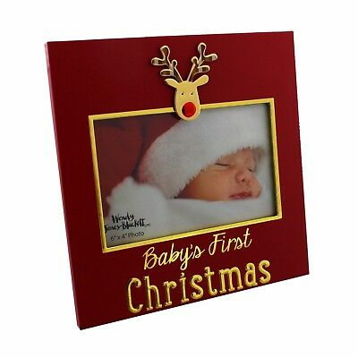 Reindeer Baby's First Christmas Photo Frame Gift