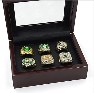 NFL Green Bay Packers 6 years Super Bowl Champion Ring Memorial ring