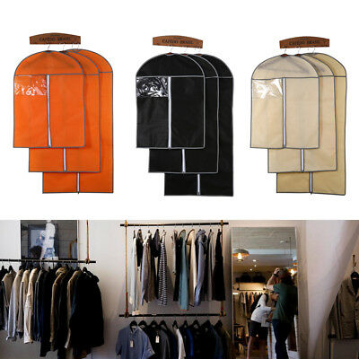 3 Colors 3 Sizes Breathable Suit Cover Hanging Garment Clothes Protector Bags SG