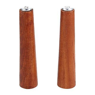 A pair of Danish teak salt & pepper pots Elegant design