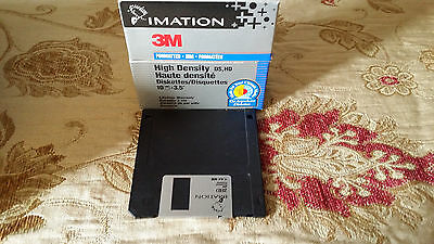 """Imation 3.5 """" 2Hd 1.44Mb Floppy Disks - Used, Each Box Contains 10 Floppy Disks."""