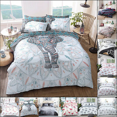 Animal Duvet Cover Set King Size Double Single Butterfly Bedding Unicorn Horse