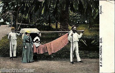 Madeira, Rede, old coloured postcard, unposted