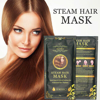 Automatic Heating Steam Hair Mask Keratin Argan Oil Treatment Hair by Aliver