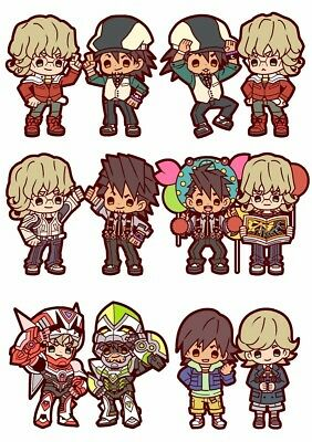BUDDY COLLECTION TIGER & BUNNY RUBBER MASCOT cell phone straps