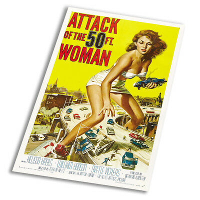 Attack Of The 50ft Woman Vintage - Vintage Art Print Poster - A1 A2 A3 A4 A5