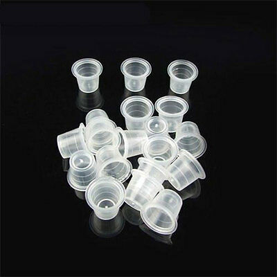 1000pcs Tattoo Ink Cup Plastic Cap White Color for Needle Ink Tattoo Supplies YT