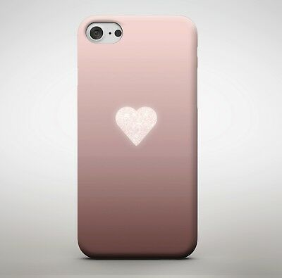 Rose Gold Glitter Love Heart Pink Shade Girls Girl Smooth Print Phone Case Cover