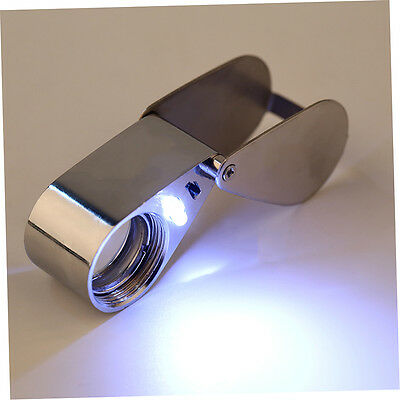 45x21mm Juweliere Lupe Lupe Lupe Lupe drehbar mit LED - Licht MYT