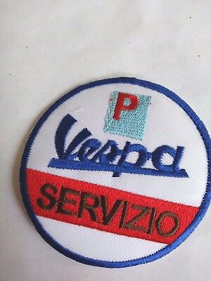 VESPA Servizio Patch/ Scooters/ Advertising/ Racing. Italian Brand/