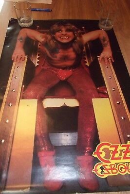 OZZY OSBOURNE Vintage POSTER Speak of the Devil 1982 OZZ Production/Campus Craft