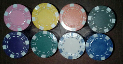 100 poker chips 11.5 gram dice edge choice of 10 colors