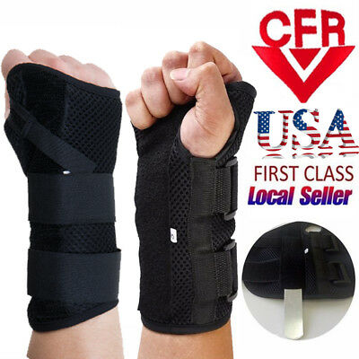 Wrist Splint Brace Protection Support Strap Carpel Tunnel Arthritis Pain Relief