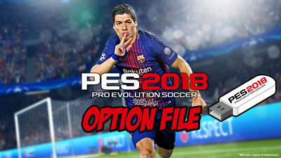 PES 2018 Official Kit Designs on 2GB USB - Pro Evo Option File For PS4